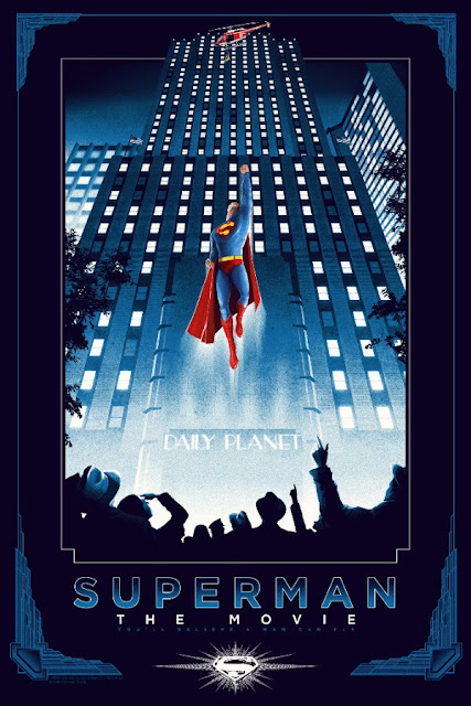 Superman: The Movie Standard Edition Screen Print by Matt Ferguson & Dark Hall Mansion