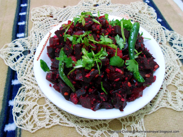 Beetroot Poriyal [ beetroot stir fry ]