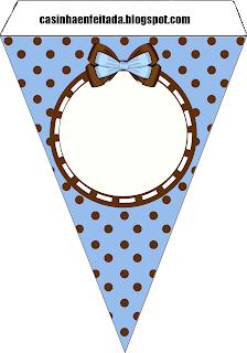 Kit Chá de Cozinha Azul e Marrom