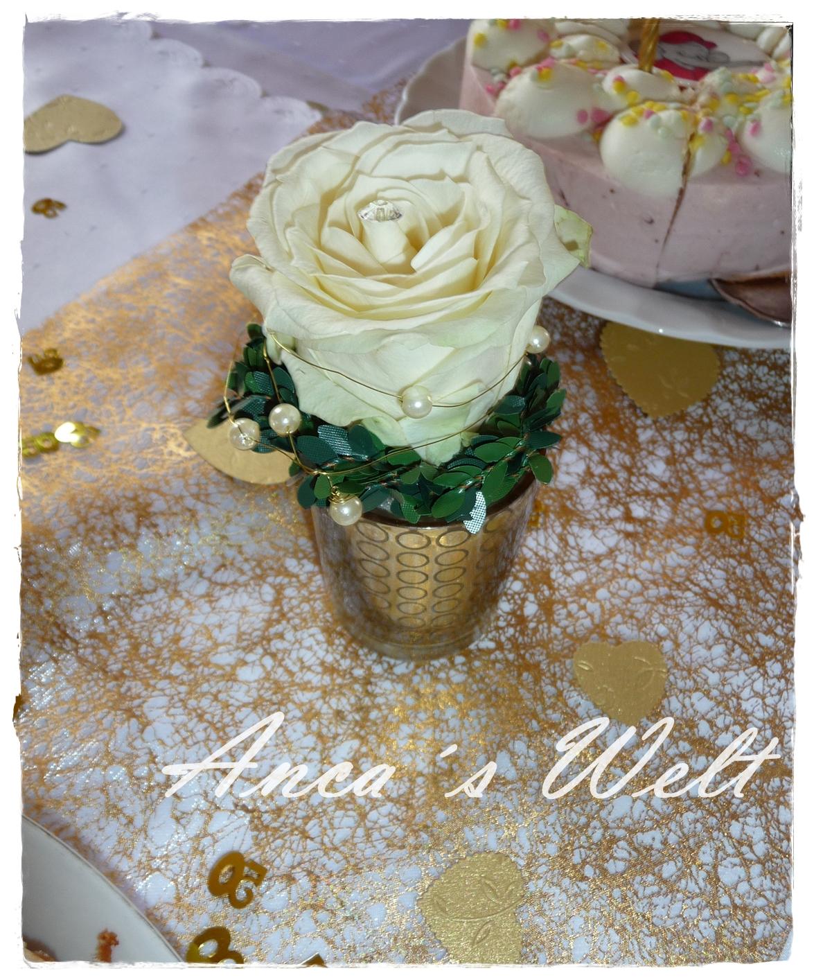 Goldene Blumen Ginacrisalida Tischdekoration Zur Goldenen Hochzeit