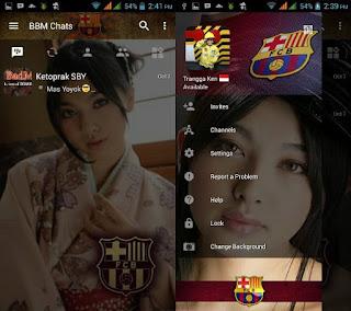 BBM MOD Barcelona Terbaru with Change Background v3.0.1.25 APK