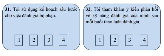 Câu hỏi trong bản đánh giá nhân viên phần 7