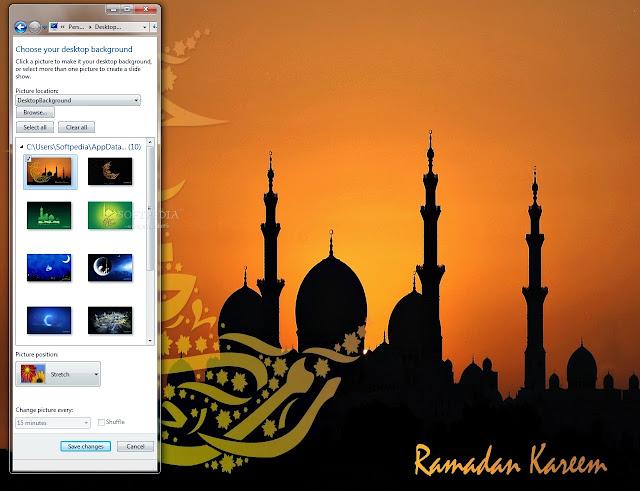 تحميل ثيم رمضان للكمبيوتر Ramadan Kareem Windows 7