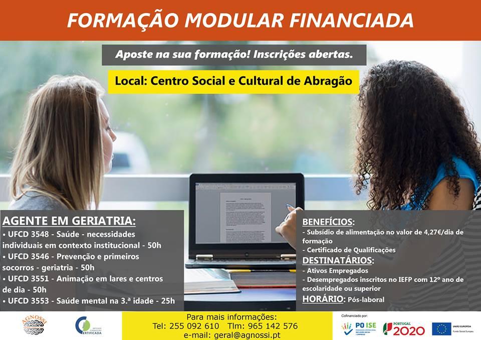 Formação financiada no concelho de Penafiel (Galegos, Abragão, Guilhufe e Rio de Moinhos)