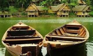 Wisata Kampung Sampireun Garut Pemandangan Yang Indah