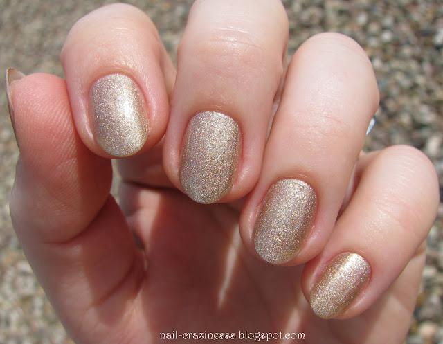 gold nail polish, złoty lakier,