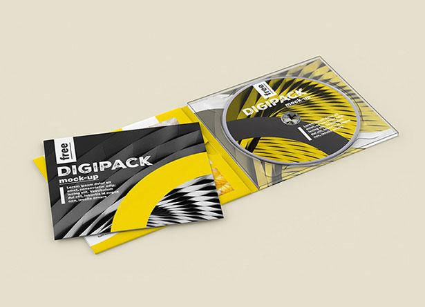 Gratis Mockup Packaging/Kemasan PSD 2018 - DVD Disk  & Jacket PSD