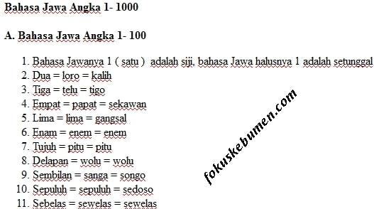 bahasa jawa angka 1 sampai 1000