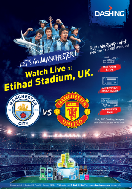 Dashing Lets Go Contest Manchester, contest dashing, peminat manchester city berpeluang menang ke manchester,