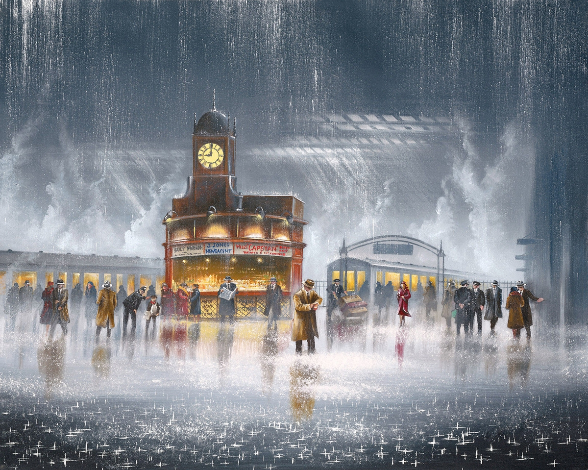 10-Waiting-for-You-Jeff-Rowland-Paintings-of-Romantic-Scenes-in-the-Rain-www-designstack-co