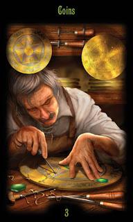 тройка монет таро божественного наследия