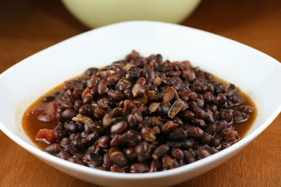 How to make Restaurant-style Mexican Black Beans in the crockpot slow cooker.