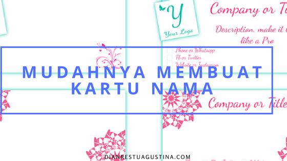 Cara Membuat Kartu Nama