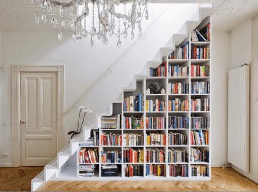 Desain rak buku minimalis modern