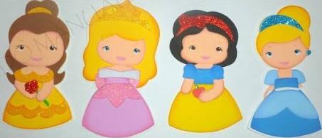 Princesinhas da disney com moldes