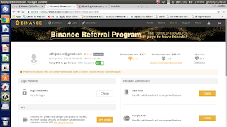 Binance Affiliate Program log in