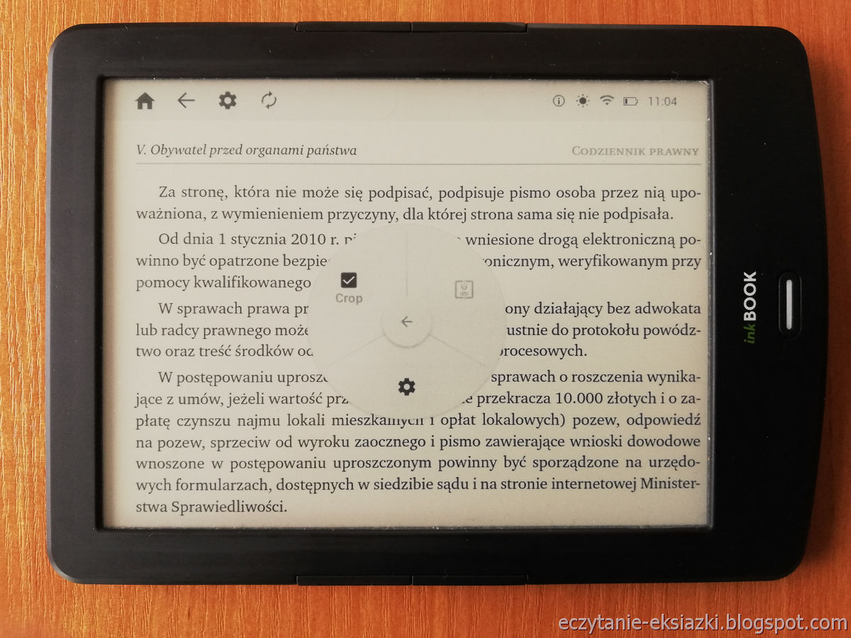 PocketBook Reader InkBOOK LUMOS – PDF po przycięciu marginesów