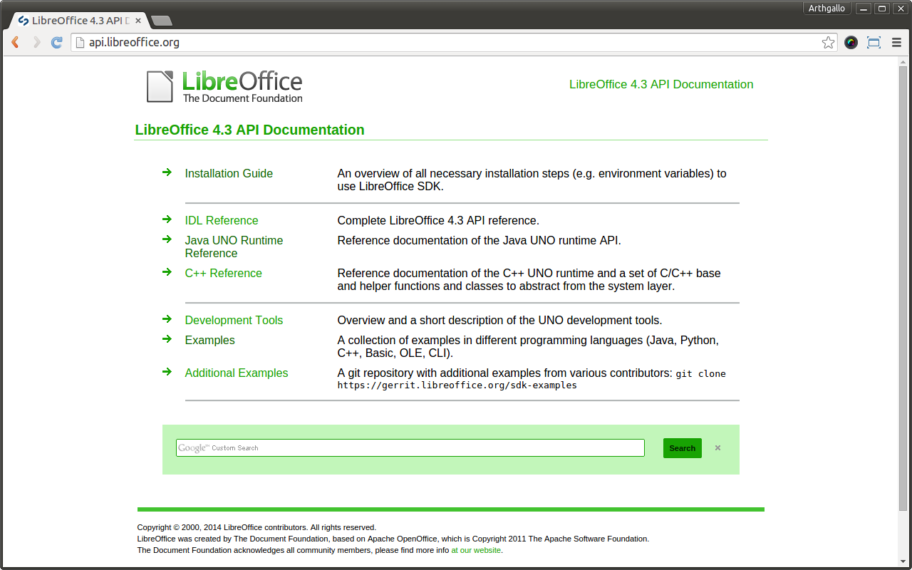 Open design and architecture: Installing LibreOffice SDK on