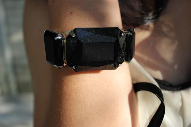 Black Gem Bracelet Forever 21