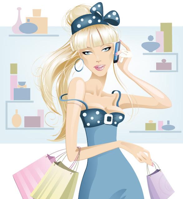 chicas en vectores moda