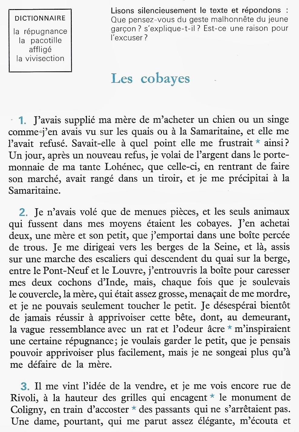 L'ENFANT ET LA LECTURE CM2 - R Millot