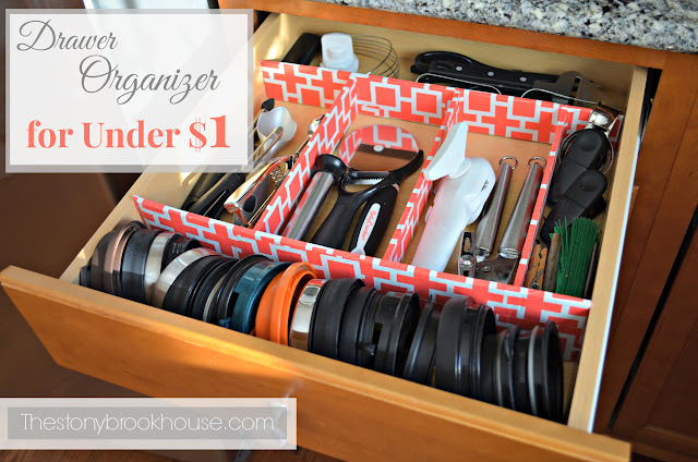 Kitchen Utensil Drawer Organizer for $1