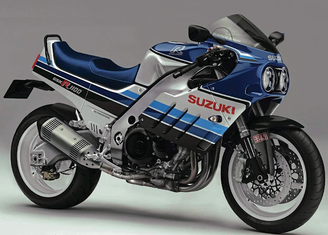Bored-out GSX-R1000 K5 in retro Slab-Side style bodywork.