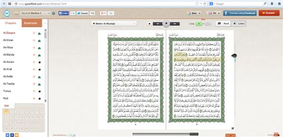 http://www.quranflash.com/books/Medina1/?en#