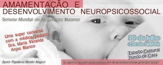 Palestra da Dra. Maria Vaneide sobre Aleitamento Materno em Sete Barras-SP