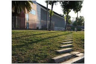 Jardins d'Hiroshima i Biblioteca Guinardó-Mercè Rodoreda (Barcelona) per Teresa Grau Ros