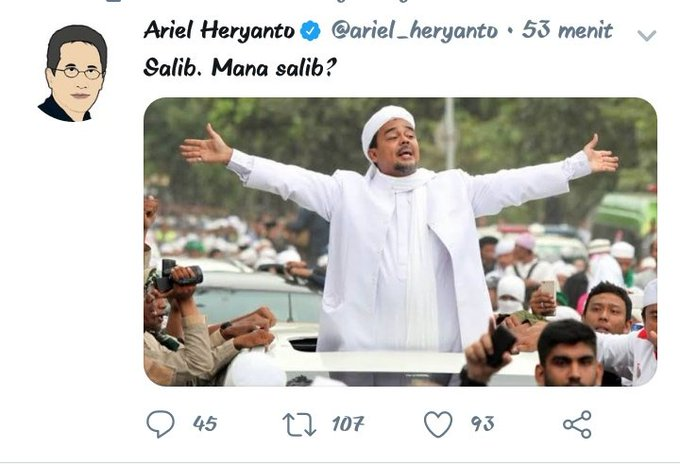 "Usai Ejek ""Salib"" ke Habib Rizieq, Sosiolog Ini Ngumpet"