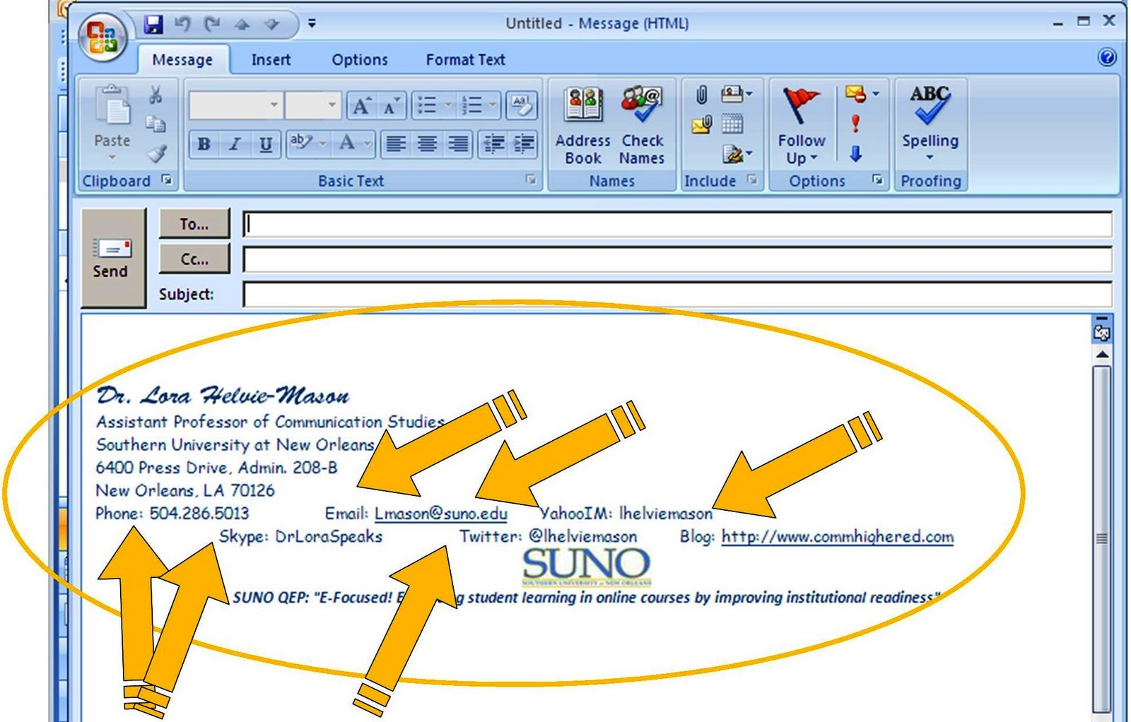 Student Signature Line Student Email Signature