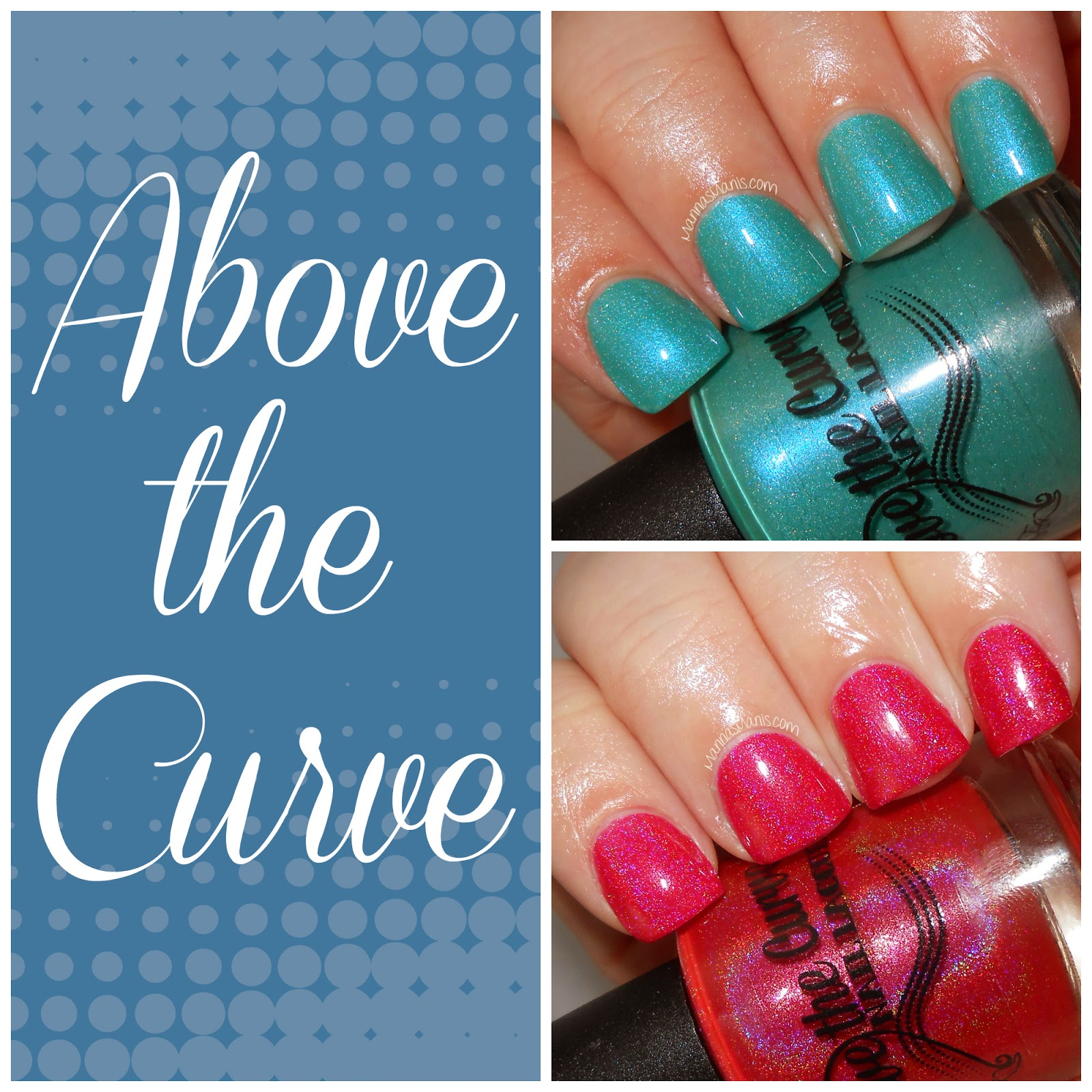 indie nail polish above the curve holographics