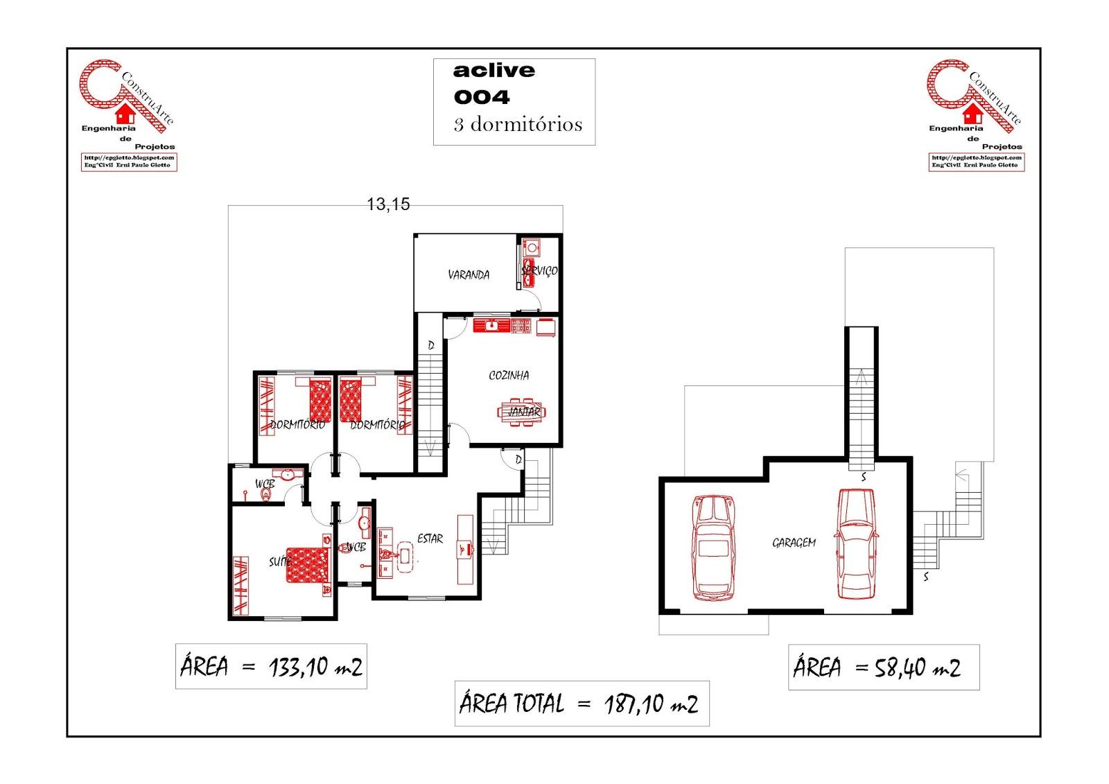 de Planta Baixa Modelos de Sobrados Planta de casa projeto  #AF1D1C 1600 1131