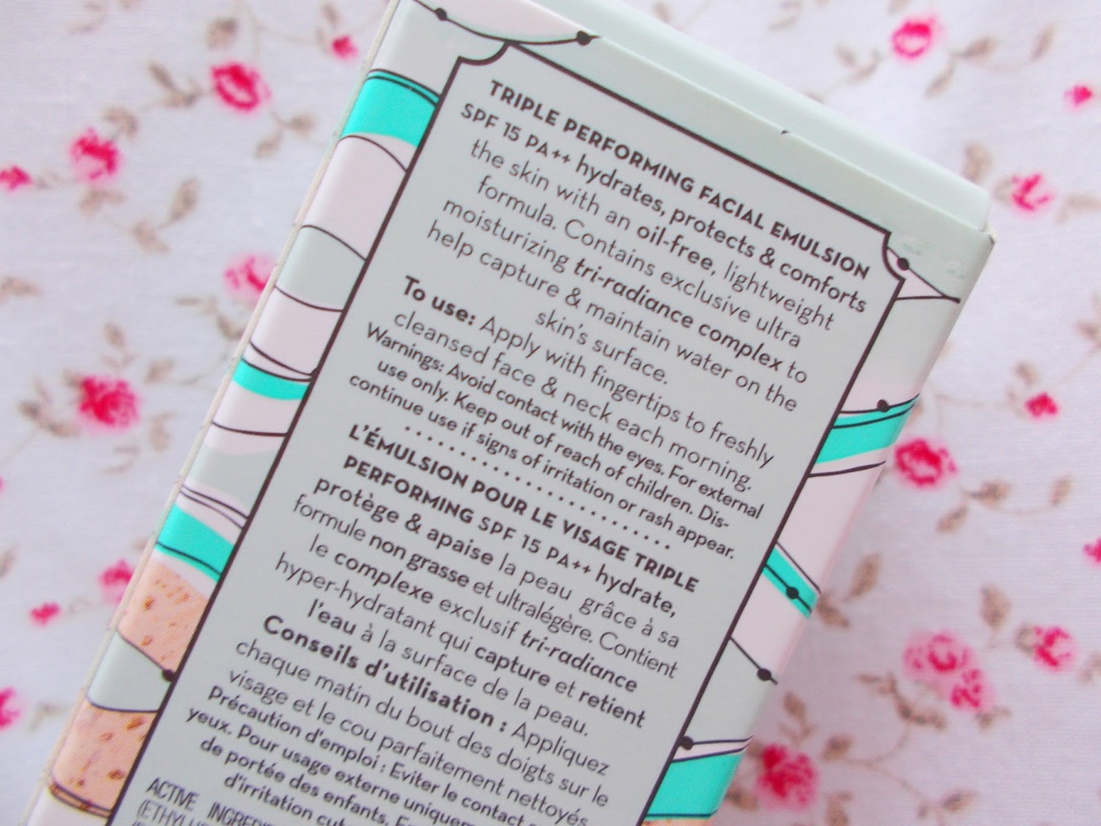 Benefit Triple Performing Facial Emulsion packaging details