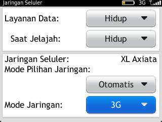Dan pada mode jaringan pilih hanya mode 3G saja, selesai ..