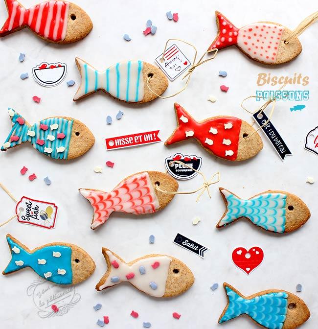 recette de biscuits poisson d'avril