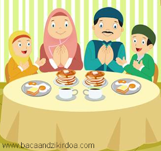 Bacaan Doa Sebelum dan Sesudah Makan Arab Latin dan Terjemahannya