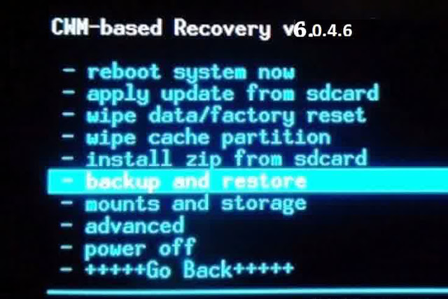 Cara Backup & Restore melalui CWM Recovery