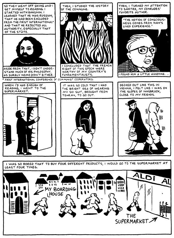 Read Chapter 3 - Pasta, page 20, from Marjane Satrapi's Persepolis 2 - The Story of a Return
