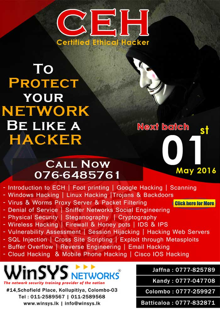 Be a Hacker to Protect your Network - Winsys Networks