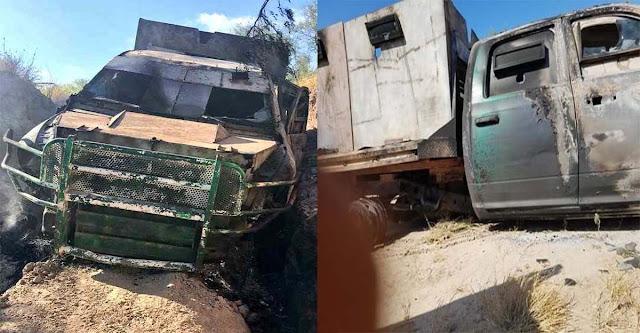 """Sicarios del CDG utilizan poderoso """"monstruo"""" blindado en balacera contra Los Zetas del CDN en Tamaulipas."""