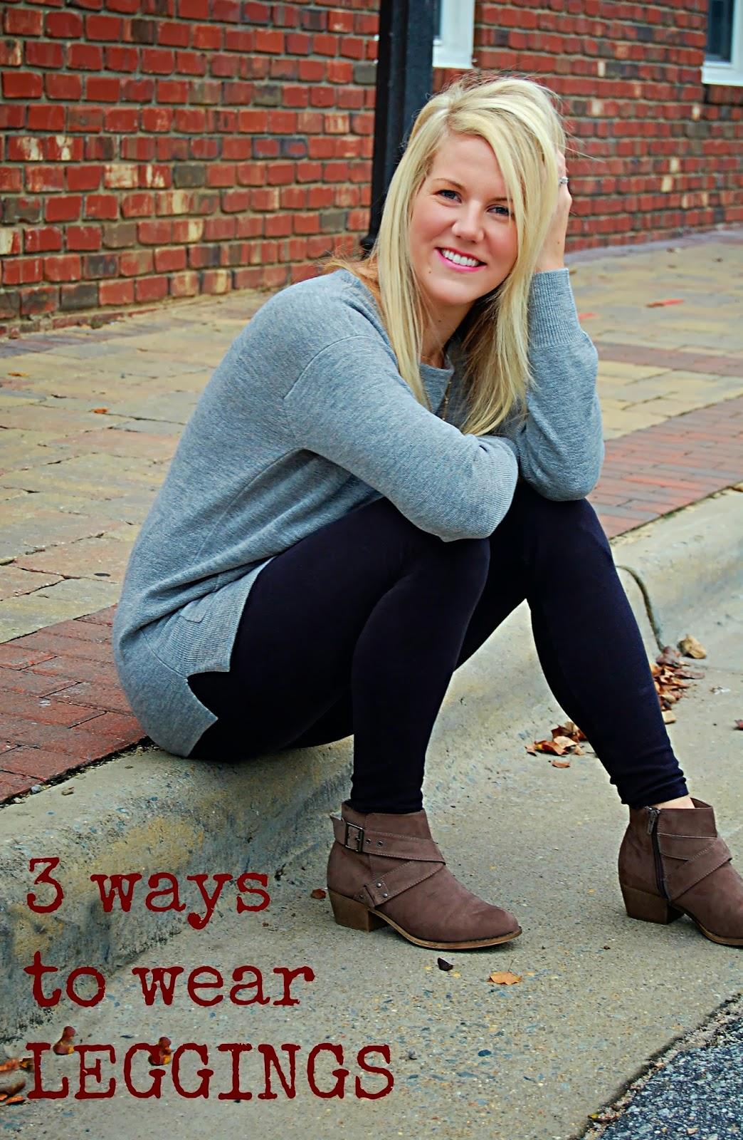 3 Ways to Wear Leggings