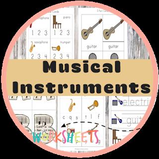 music instrument kindergarten worksheets