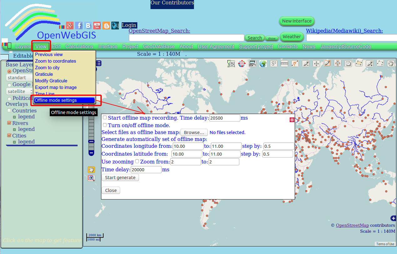 OpenWebGIS is free online GIS: One of the methods to create