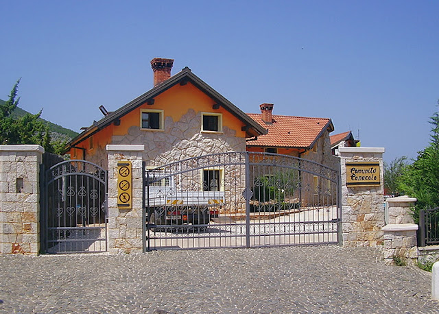 An image of the front entrance to Comunità Cenacolo, Medjugorje