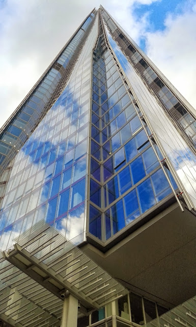 Reflections of clouds on The Shard