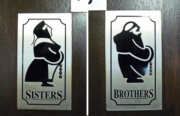 20+ Of The Most Creative Bathroom Signs Ever - Toilet Sign At Holy Island