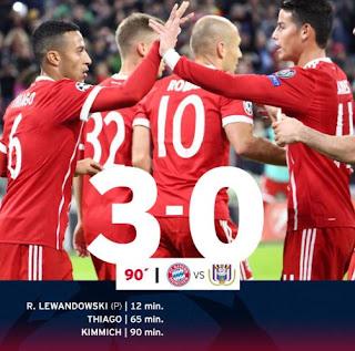 Bayern Munich vs Anderlecht 3-0 Liga Champions Grup B
