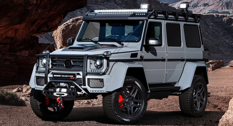 brabus 550 adventure takes the mercedes g500 4x4 even further to the extreme. Black Bedroom Furniture Sets. Home Design Ideas